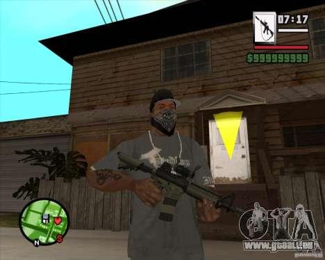 HQ M4A1 - DMG MK11 pour GTA San Andreas