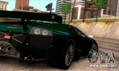 Lamborghini Murcielago R-SV GT1 für GTA San Andreas Unteransicht