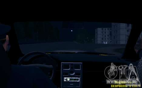 LADA Priora 2170 Taxi TMK Afterburner pour GTA San Andreas salon