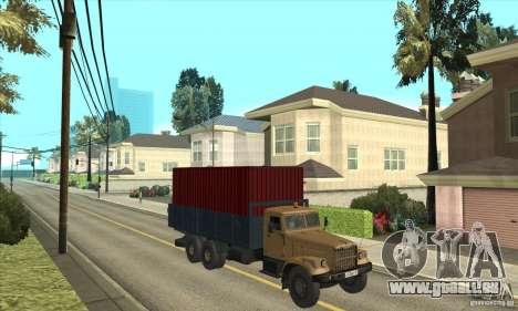 KrAZ-257 für GTA San Andreas Rückansicht
