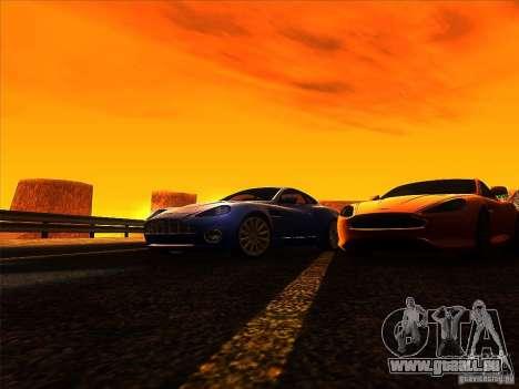Aston Martin V12 Vanquish V1.0 pour GTA San Andreas vue de dessus