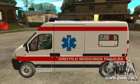 Renault Master Ambulance pour GTA San Andreas laissé vue