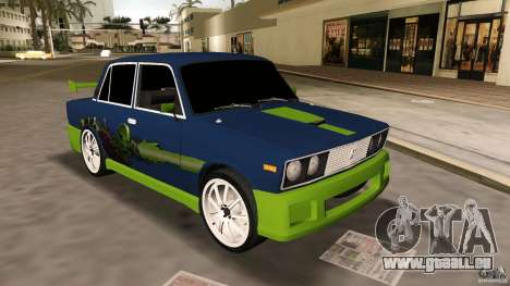 VAZ 2106 Tuning v2. 0 für GTA Vice City linke Ansicht