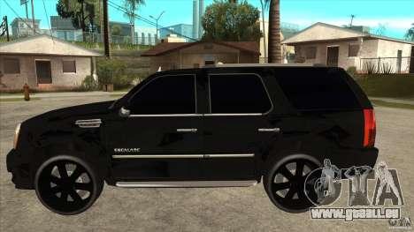 Cadillac Escalade Unique Autosport pour GTA San Andreas laissé vue