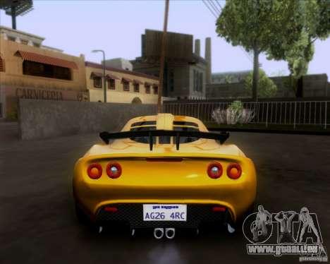 Lotus Exige für GTA San Andreas Innenansicht