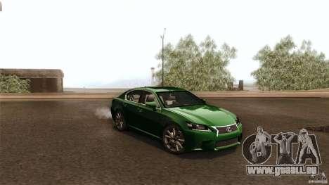 Lexus GS350F Sport 2013 pour GTA San Andreas