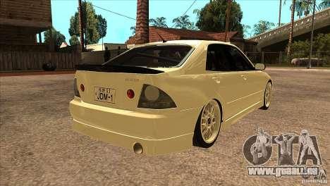 Toyota Altezza RS200 JDM Style pour GTA San Andreas vue de droite