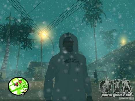 Chute de neige pour GTA San Andreas cinquième écran