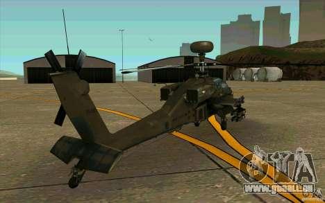 Apache AH64D Longbow pour GTA San Andreas vue de droite