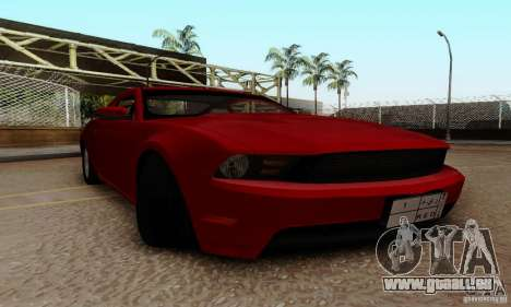 Ford Mustang 2010 pour GTA San Andreas vue intérieure