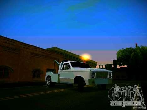 Towtruck tuned für GTA San Andreas Innenansicht