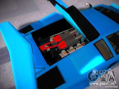 Lamborghini Countach LP5000 pour GTA San Andreas vue intérieure
