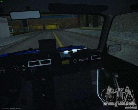 VAZ 2107 Polizei für GTA San Andreas Seitenansicht