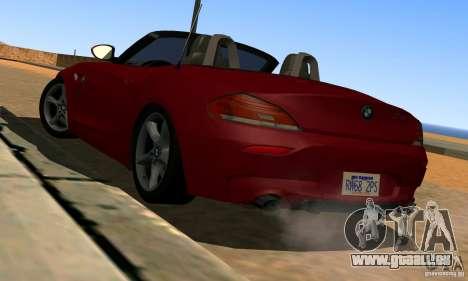 BMW Z4 2010 pour GTA San Andreas sur la vue arrière gauche