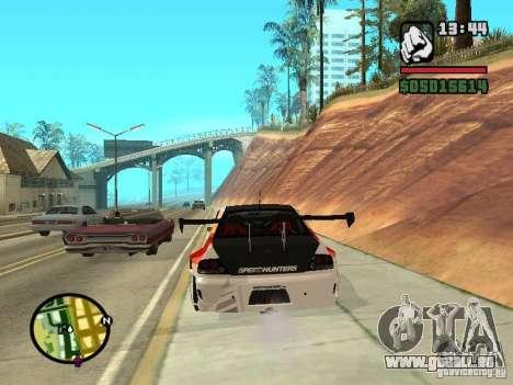 Mitsubishi Lancer Evo IX SpeedHunters Edition pour GTA San Andreas sur la vue arrière gauche