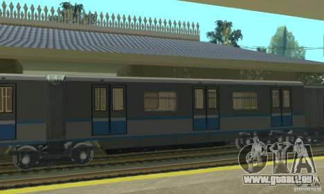4 Rusich train pour GTA San Andreas sur la vue arrière gauche