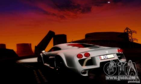 Noble M600 Final pour GTA San Andreas vue de dessous