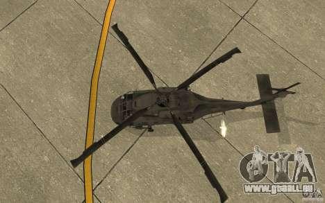 UH-60 Black Hawk pour GTA San Andreas vue arrière