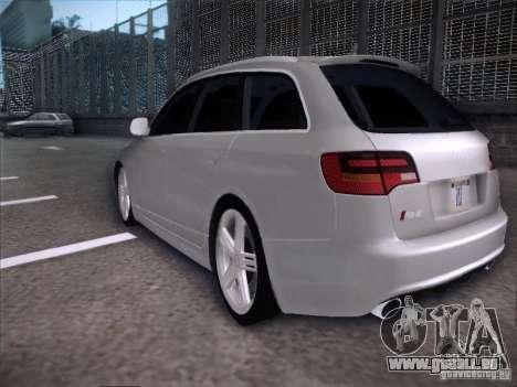 Audi RS6 Avant pour GTA San Andreas sur la vue arrière gauche