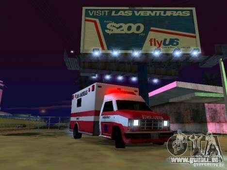 Ambulance 1987 San Andreas für GTA San Andreas rechten Ansicht