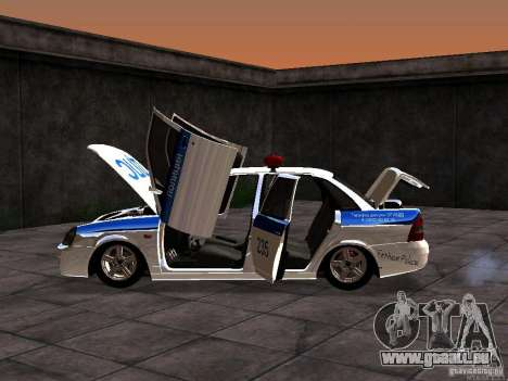 LADA 2170 Polizei für GTA San Andreas Rückansicht