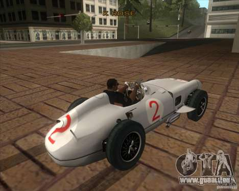 Daimler-Benz AG Juan Manuel Fangio pour GTA San Andreas sur la vue arrière gauche