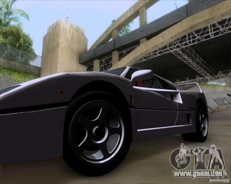 Ferrari F40 pour GTA San Andreas vue arrière
