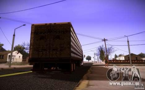 Box Trailer pour GTA San Andreas laissé vue
