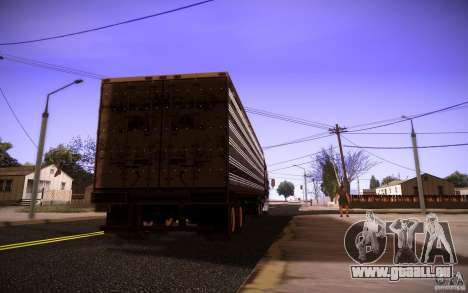 Box Trailer für GTA San Andreas linke Ansicht
