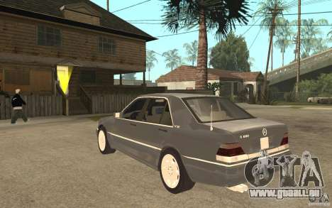 Mercedes-Benz S600 W140 pour GTA San Andreas sur la vue arrière gauche