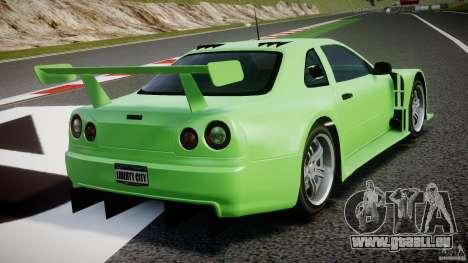 Nissan Skyline R34 v1.0 pour GTA 4 est une vue de dessous