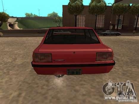 Vincent standard pour GTA San Andreas sur la vue arrière gauche