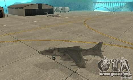 AV-8 Harrier pour GTA San Andreas laissé vue