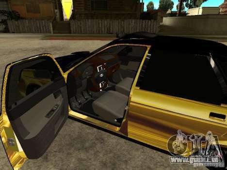 Lada 2170 Priora GOLD pour GTA San Andreas vue de droite