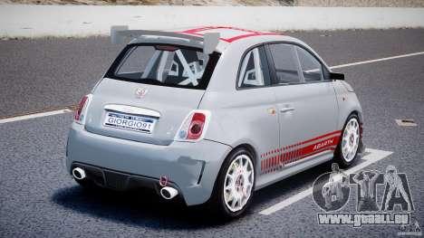Fiat 500 Abarth für GTA 4 hinten links Ansicht