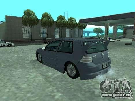 Volkswagen Golf IV für GTA San Andreas Unteransicht