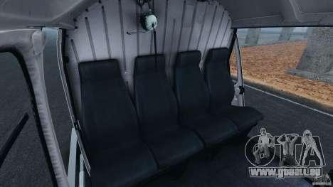 Eurocopter AS350 Ecureuil (Squirrel) pour GTA 4 est une vue de l'intérieur