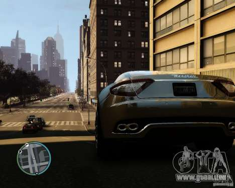 Maserati Grandturismo pour GTA 4 Vue arrière de la gauche