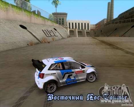 Volkswagen Polo WRC pour GTA San Andreas vue intérieure
