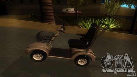 Elektroscooter - Speedy pour GTA San Andreas vue arrière