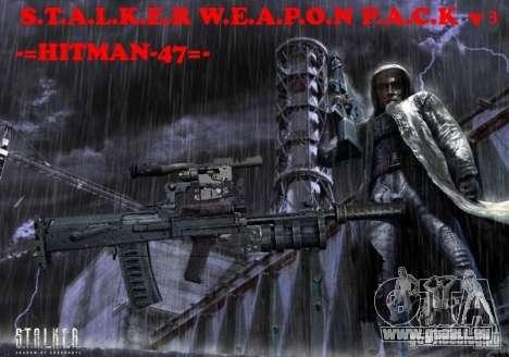 Une série d'armes de stalker V3 pour GTA San Andreas