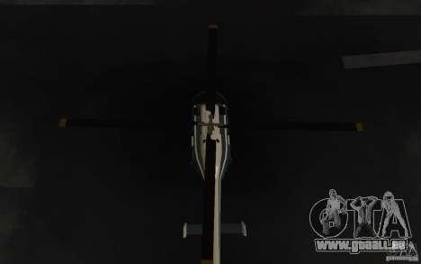 GTA IV Police Maverick pour GTA San Andreas vue intérieure