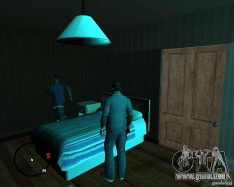 Aller à n'importe quelle maison pour GTA San Andreas troisième écran