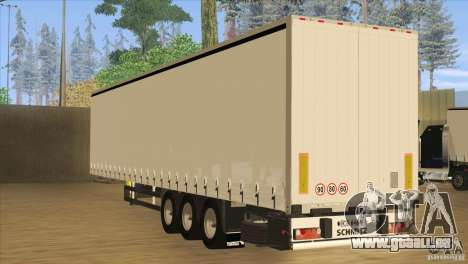 SchmitZ Cargobull für GTA San Andreas zurück linke Ansicht