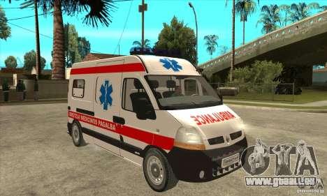 Renault Master Ambulance pour GTA San Andreas vue arrière
