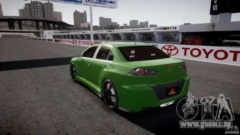 Mitsubishi Lancer Evolution X Tuning pour GTA 4 est une vue de dessous