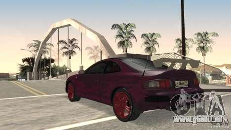 Toyota Celica pour GTA San Andreas sur la vue arrière gauche