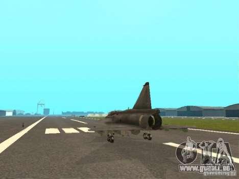 Saab JA-37 Viggen für GTA San Andreas rechten Ansicht