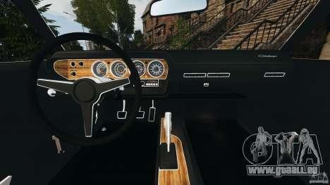 Dodge Challenger RT 1970 v2.0 pour GTA 4 Vue arrière