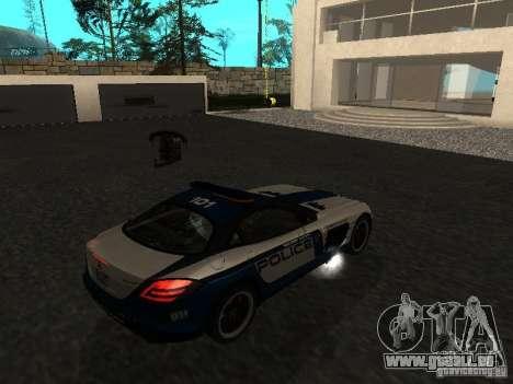 Mercedes-Benz SLR 722 SCPD pour GTA San Andreas laissé vue